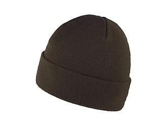 ZOBAR Dvojitě pletená zimní čepice, unisex, armádní zelená - reklamní čepice