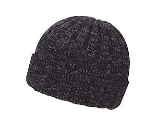 TIZANA Pánská zimní čepice v univerzální velikosti, černá - reklamní čepice