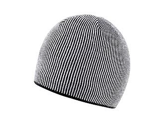 SINGIDA Zimní akrylová čepice s barevnými proužky, bílá - reklamní trička