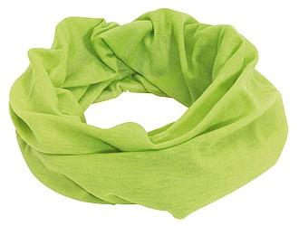 CEMILE Multifunkční šátek, zelený - reklamní čepice