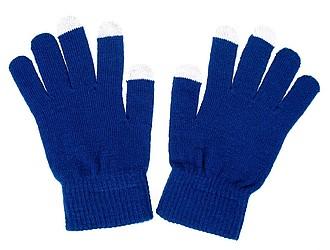 Rukavice s úpravou pro kapacitní displeje, modrá, bez černého štítku - reklamní hrnky