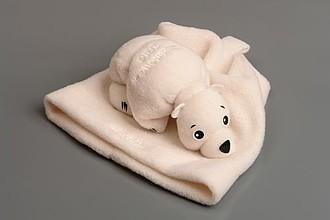 LESLY Lední medvěd poskládaný z čepice a šály
